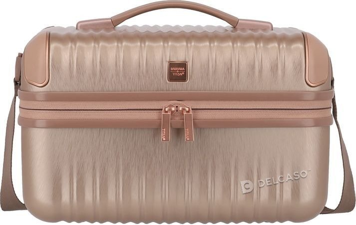 Kuferek / kosmetyczka Titan Barbara Glint różowa