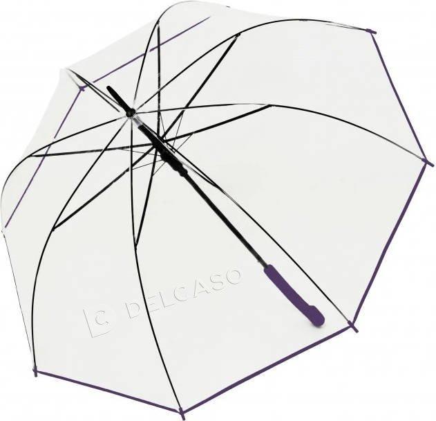Parasol przeźroczysty Derby Transparent fioletowy