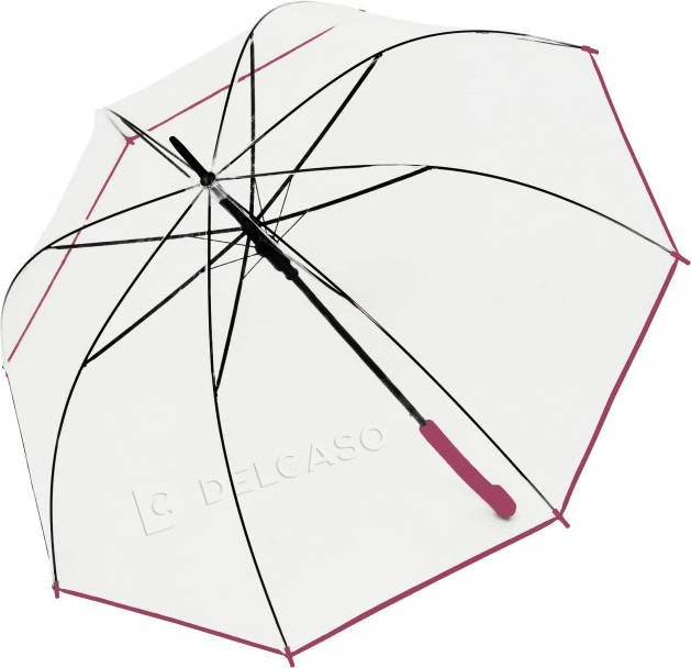 Parasol przeźroczysty Derby Transparent różowy