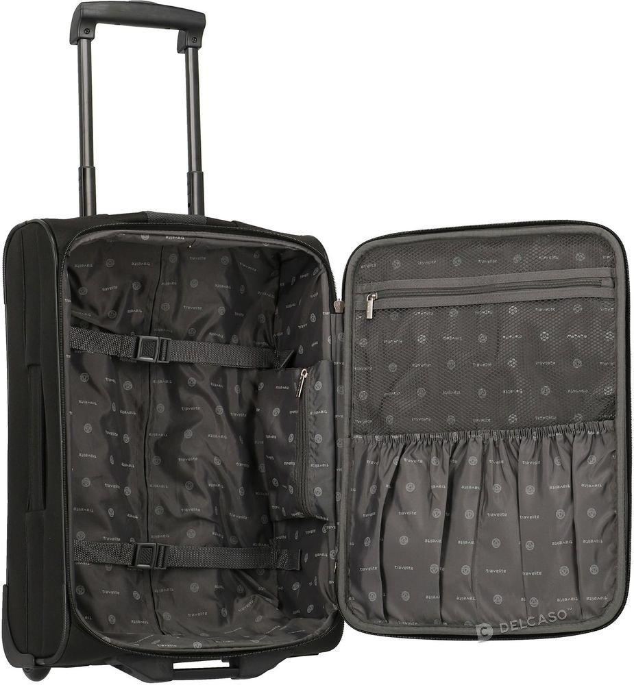 Walizka kabinowa 2-kółkowa Travelite Orlando 53 cm mała czarna