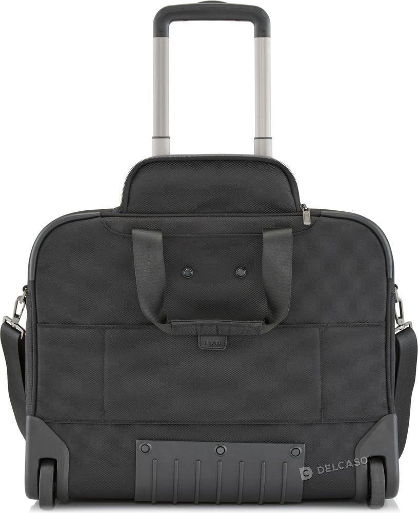 Walizka kabinowa 2K biznesowa Titan Power Pack 48 cm mała czarna