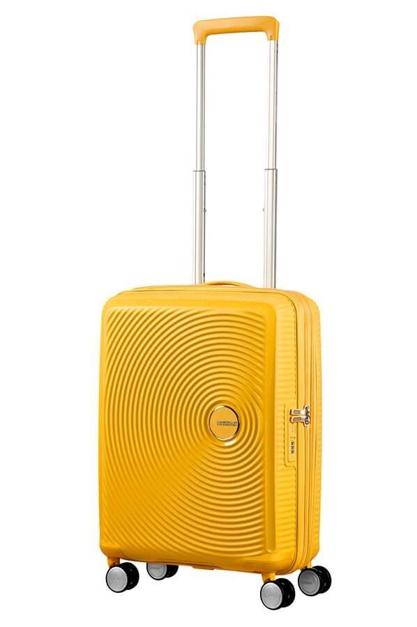 Walizka kabinowa American Tourister Soundbox 55 cm powiększana żółta