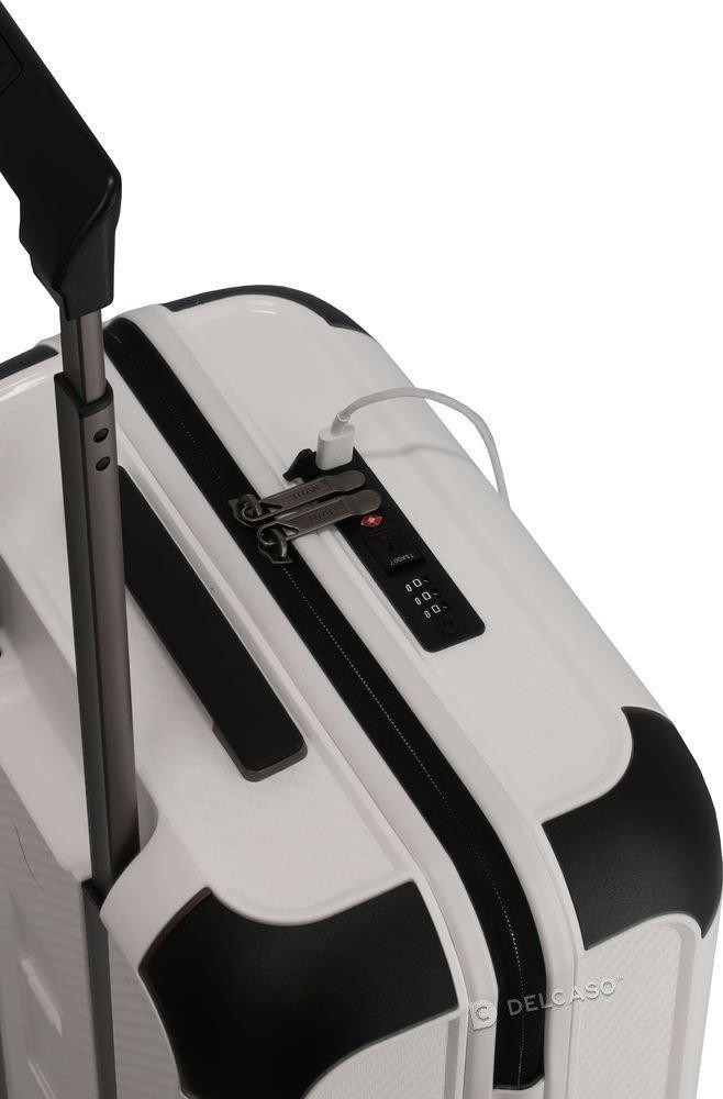 Walizka kabinowa Titan Compax 55 cm mała biała z USB