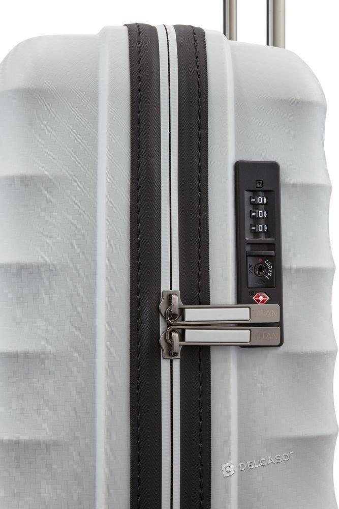Walizka kabinowa Titan Highlight 55 cm mała biała