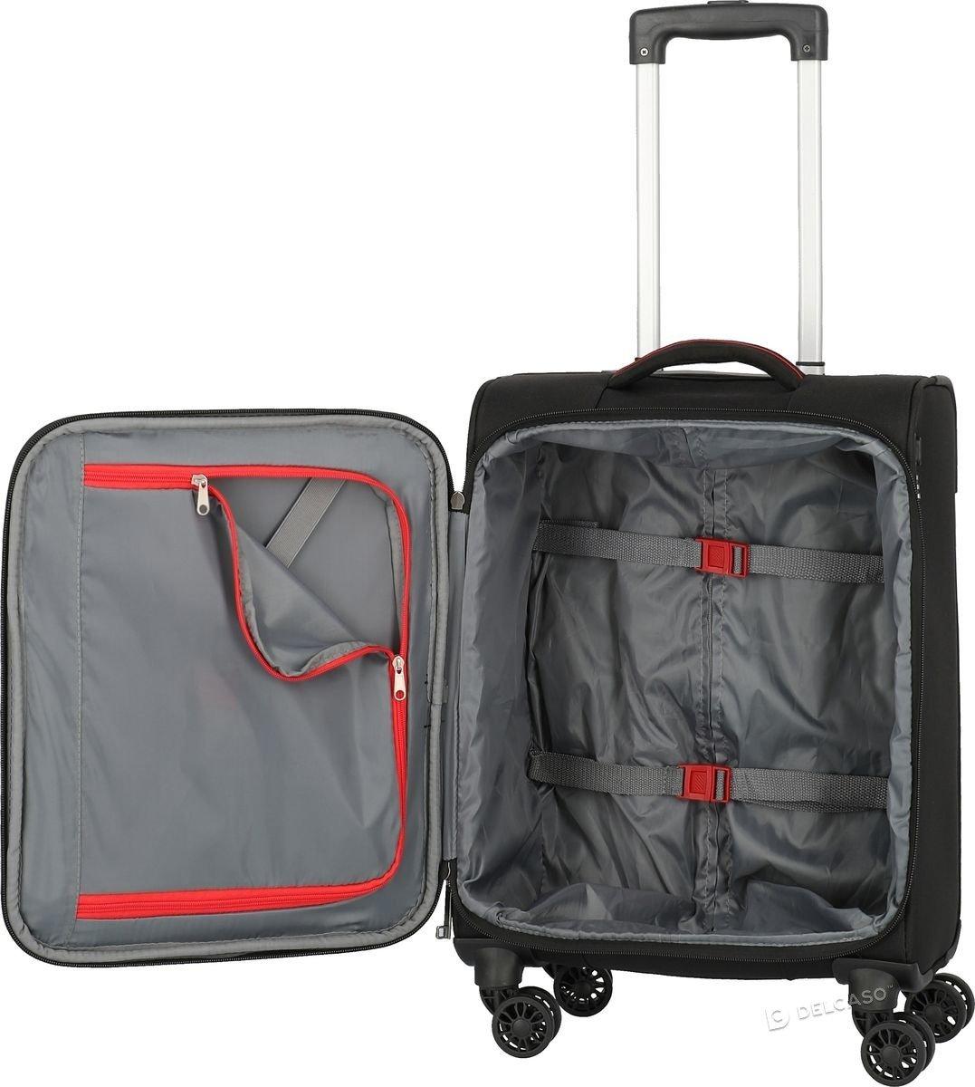 Walizka kabinowa Travelite Mako 55 cm mała czarna