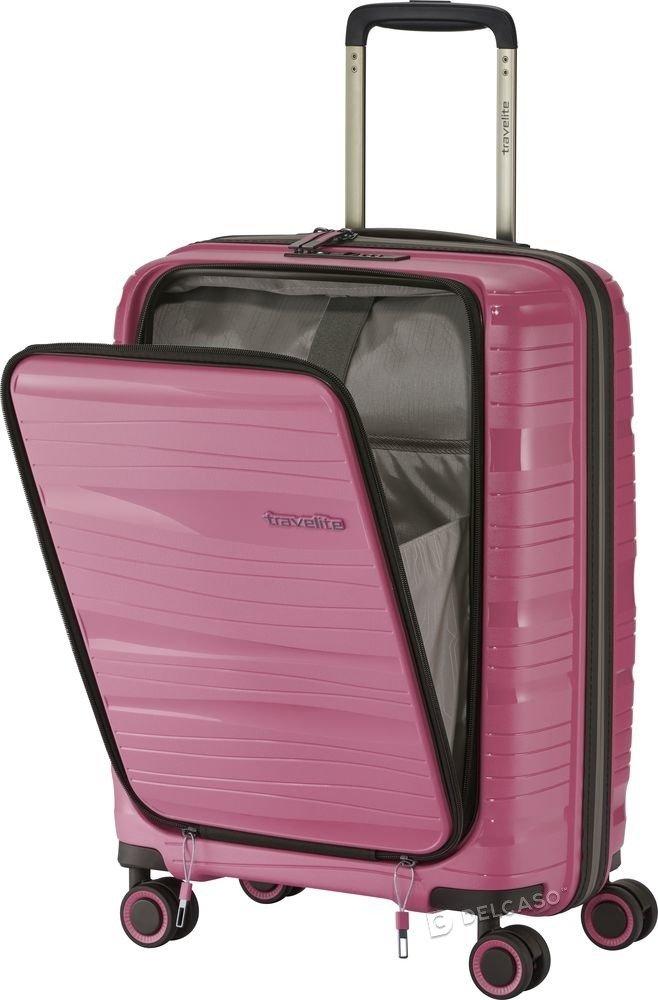 Walizka kabinowa - biznesowa Travelite Motion 55 cm mała różowa