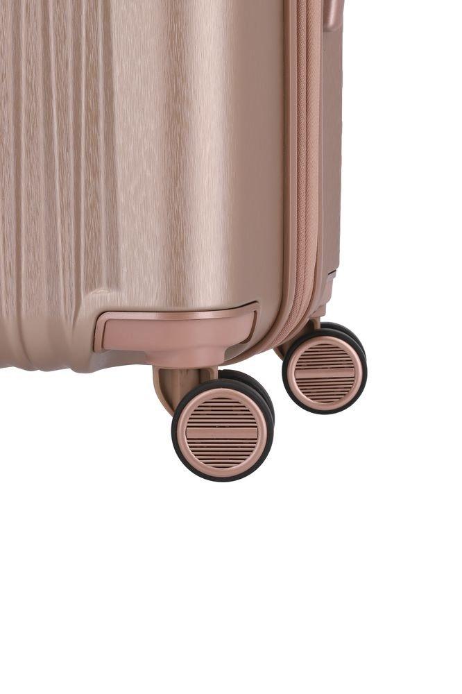 Walizka kabinowa - poszerzana Barbara Glint 55 cm mała różowa