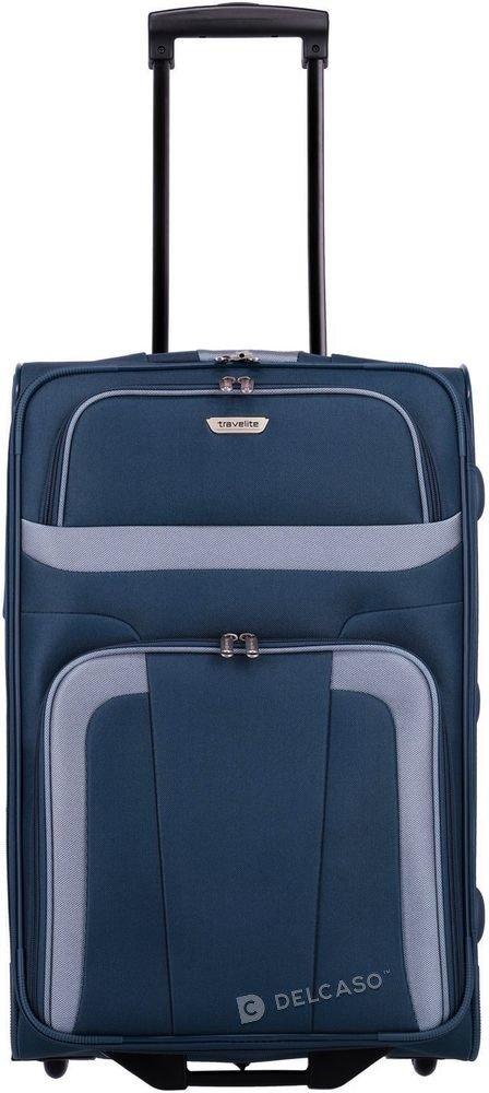 Walizka średnia 2-kółkowa Travelite Orlando 63 cm niebieska