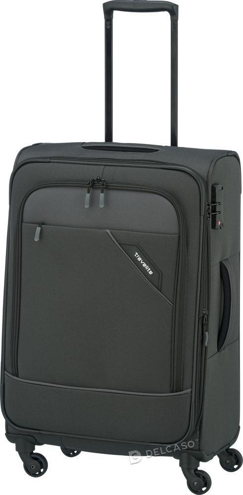 Walizka średnia Travelite Derby 66 cm antracytowa