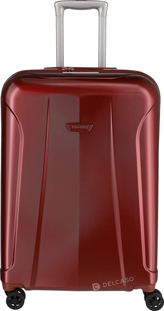 Walizka średnia Travelite Elbe 66 cm czerwona