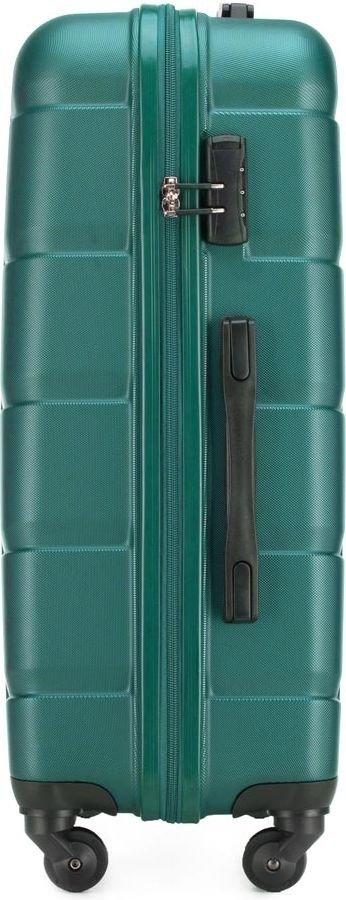 Walizka średnia Wittchen Arrow Line 67 cm turkusowa