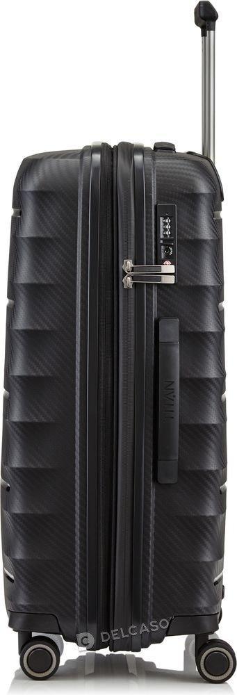 Walizka średnia - poszerzana Titan Highlight 67 cm czarna