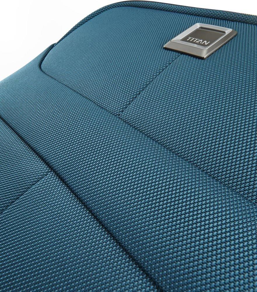 Walizka średnia - poszerzana Titan Nonstop 68 cm niebieska