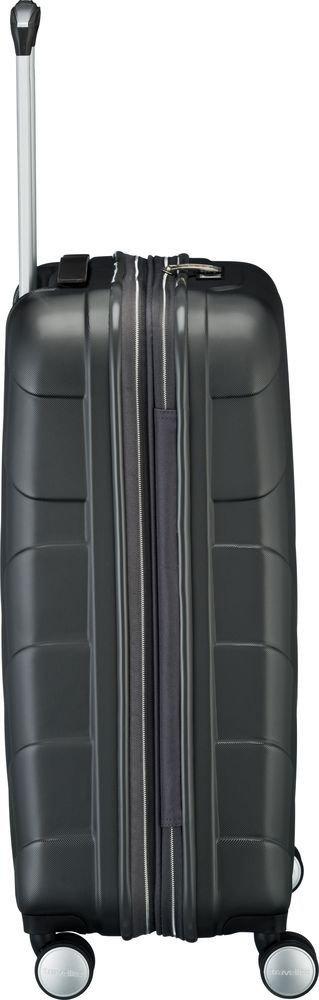 Walizka średnia - poszerzana Travelite Kalisto 67 cm Antracytowa