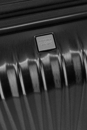 Walizka kabinowa - poszerzana Barbara Glint 55 cm mała antracytowa
