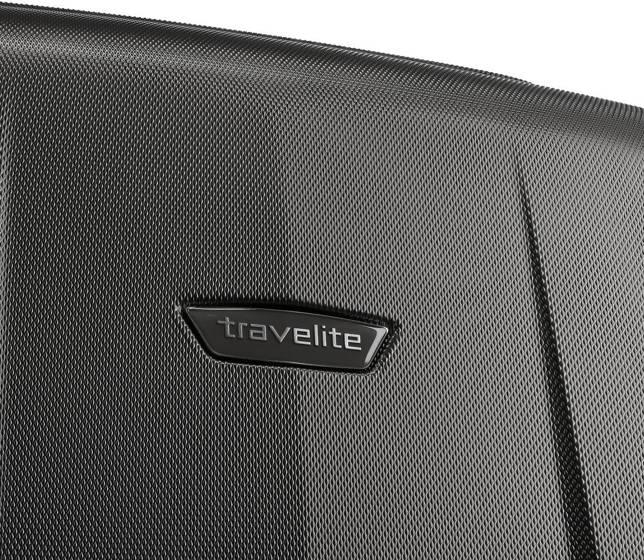 Walizka średnia - poszerzana Travelite Elbe 66 cm antracytowa